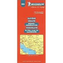 Carte routière : Slovénie - Croatie - Bosnie - Herzégovine - Macédoine - Yougoslavie, N°991