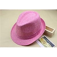 Sunbohljfjh Sombrero para el Sol Sombrero Retro Sombrero de Jazz para Verano Hombres y Mujeres Escenario Rendimiento Rendimiento Sombrero 56 * 58 cm
