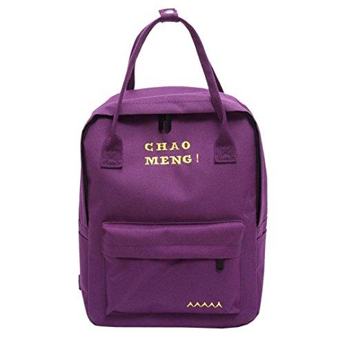 Femme Sac à Dos en Toile,OverDose Vintage Tote Bag Voyage Scolaire Cartable Mode Sacs Fille School Bag Backpack