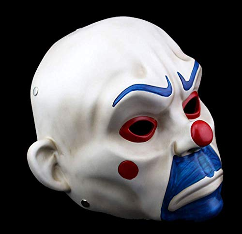 JIAENY Halloween-Maske,Halloween Maske Adult High-Grade Resin Joker Bankräuber Masken Clown Batman Dark Knight Halloween Prop Maskerade Party