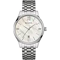 Bulova Women's Quartz Watch ( Mother Of Pearl)
