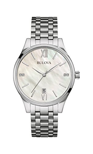 Bulova-Womens-Quartz-Watch-with-Mother-Of-Pearl-Dial-Analogue-Display