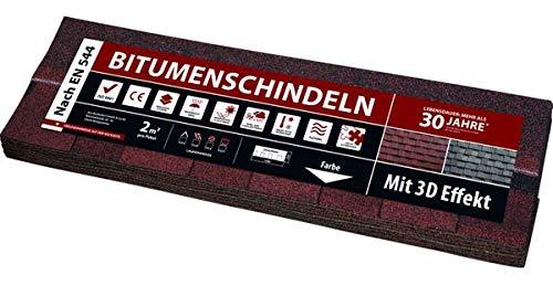 Bitumen-Schindel Quadrino - Rot 2 m²