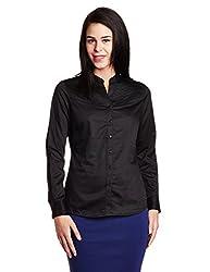 Park Avenue Woman Button Down Shirt (PWSY01223-K8_Black_91)