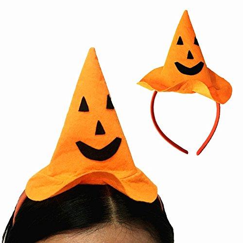 Huhuswwbin Halloween Party Kürbis Hut Haarband Stirnband Maskerade Kostüm Kopfbedeckung