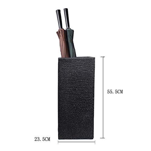 YCHBOS Keramik-Schirmständer Home Hotel Lobby Black Cane Stand Dekorativer Schirmständer Regenschirmständer (Size : 55.5CM×23.5CM×23.5CM)
