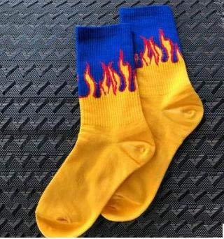 JAGETRADE Harajuku Herrensocken Baumwolle Flamme Print Hip Hop Skateboard Socken Skarpetki Männer Frau Lustige Unisex