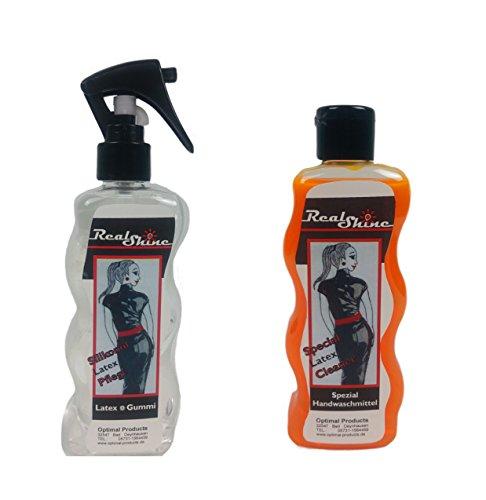 Methyl-alkohol (Latexpflege/Anziehilfe 300ml zum sprühen + Latexwaschmittel 300 ml set REALSHINE)