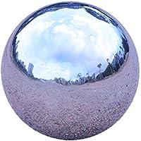 GDglobal Stainless Steel Gazing Ball, Hollow Ball Seamless Mirror Ball Sphere Gazing Ball for Home Garden Ornaments Decor,Sliver,Diameter 51-300mm (51mm)
