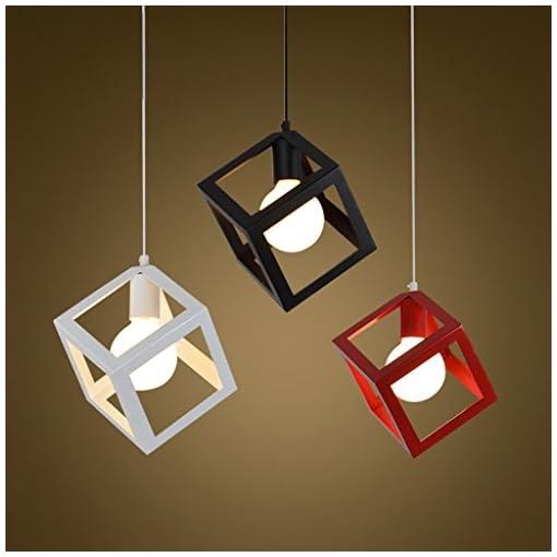 EST007® Nordic creativo in ferro battuto lampadario moderno e minimalista ristorante camera da letto bar caffetteria lampadario personalità vento industriale