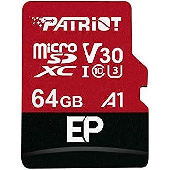 Patriot Memory Tarjeta de Memoria MicroSDXC EP Series A1 V30 V30 64 GB hasta 90MB/Sec PEF64GEP31MCX