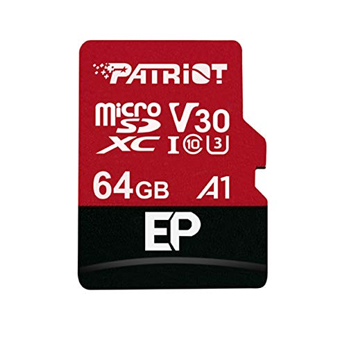 Patriot memory pef64gep31mcx 64gb ep a1per micro sd card sdxc per telefoni e tablet android/4k video recording
