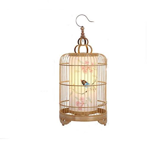 Moderne chinesische Schlafzimmer Nachttischlampe Persönlichkeit Vogelkäfig kreative Hand Malerei Studie Schreibtisch einfache Schreiblampe