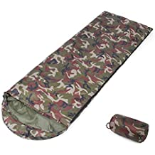 Saco de Dormir de Camuflaje Tipo 3-4 Estaciones Cuello con cordón Adecuado para el