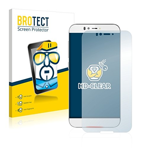 2X BROTECT HD Clear Bildschirmschutz Schutzfolie für UMi Iron (kristallklar, extrem Kratzfest, schmutzabweisend)