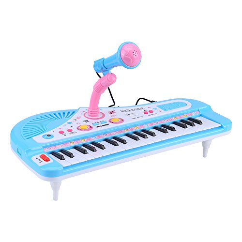 Keyboard E-Piano 37Tasten Multifunktion Mini E-Instrument-Musik für Klavier für Kleinkinder mit Mikrofon