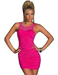 4719 Minikleid aus Stretch-Stoff dress robes Pink