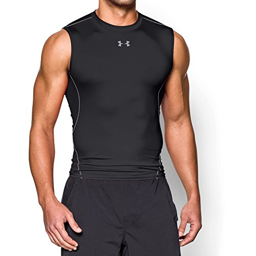 Under Armour Mens Heat Gear Sleeveless Polyester Running T Shirt (Kinder Heatgear T-shirt)