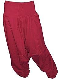 Sarouel pantalon homme femme 100% Coton Rouge Sombre