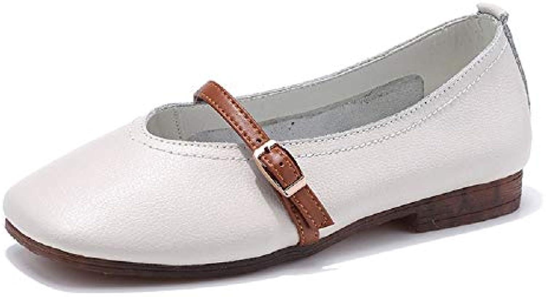 la boucle de zhrui ballerines femmes de confort cuir souliers souliers cuir  (couleur  blanc, taille  royaume uni 2, 5) b07 hhr5qjb parent c988f2 578ce4c86da2