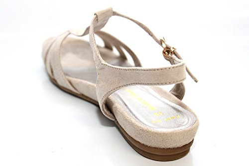 Marco Tozzi Damen Vintage Strappy Sommer Flach slinback Sandalen Größe UK 3–9  Stone ...