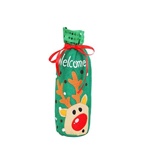 Descripción  Decora tu botella de vino con una funda de bolsa con tema navideño y refuerza el ambiente navideño. La apariencia linda con colores brillantes definitivamente permitirá que sea una bonita decoración en la mesa de la cena en la víspera de...