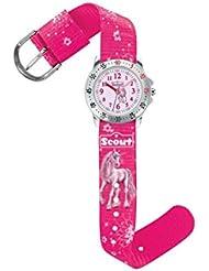 Scout Mädchen-Armbanduhr Analog Quarz Textil 280378007