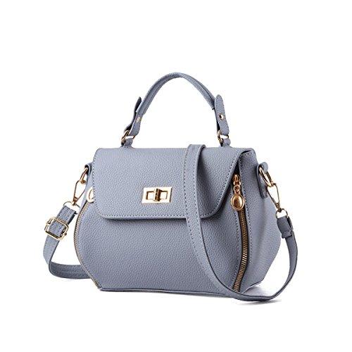 Emotionlin Delle Donne Impressionabili Bowknot Stile Progettista Cowry Spalla Borsa Top Handle Bag(Red) Gray
