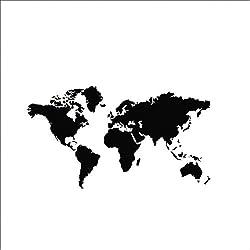 Mapa del mundo de vinilo PVC (60 x 105cm)