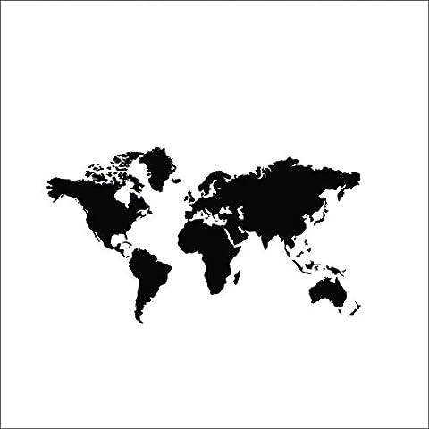 Mapa del mundo de bricolaje PVC de vinilo etiqueta de la pared removible Mural Art Adhesivos de decoración del hogar Cartel de ventana 60 * 105
