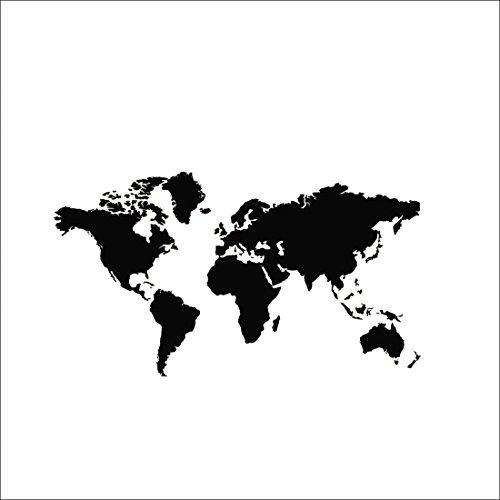 Mapa mundo bricolaje PVC vinilo etiqueta pared removible