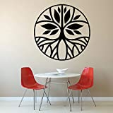 wukongsun Árbol de la Vida Dormitorio calcomanía de Pared círculo Yoga Estudio Interior habitación Decorar Pared calcomanía Mural 50cmx63cm
