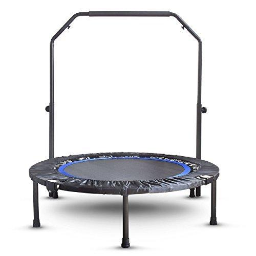Activox Mini-Heimtrampolin für Erwachsene - Indoor Fitness Trampolin mit verstellbarem Lenker für Kinder - Federhülle und klappbare Beine für Kleine Stauräume