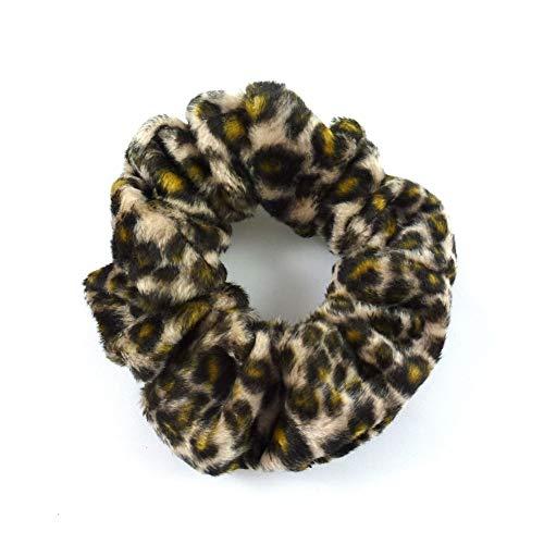 rougecaramel - Chouchou cheveux imprimé léopard marron