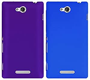Winsome Deal Hard Back Cover Case for Sony Xperia C (Pack Of 2)