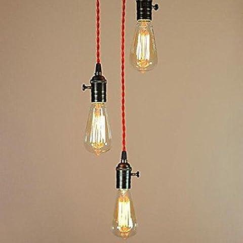 Kiven Vintage Style 3 Pendants Cluster Light Fixture Multi Pendant Clustered Chandelier Unique Lighting