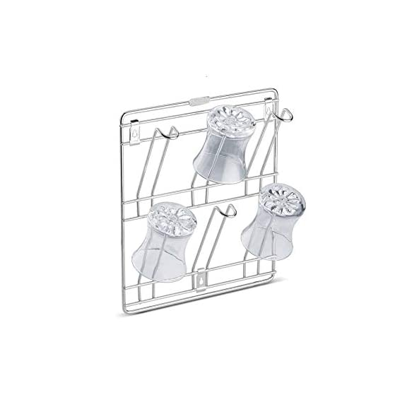 M Well HIgh Quality Stainless Steel Wall Mount Glass Stand/Wall Mounted Glass Storage Holder/Glass Holder for Kitchen, Office & Restaurant Tumbler Holder (Medium - 12 X 12 X 4 Inch)