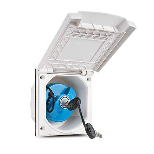 Preisvergleich Produktbild Wasseranschlussdose / abschließbar / weiß / inkl Dichtung & Schrauben / 40mm