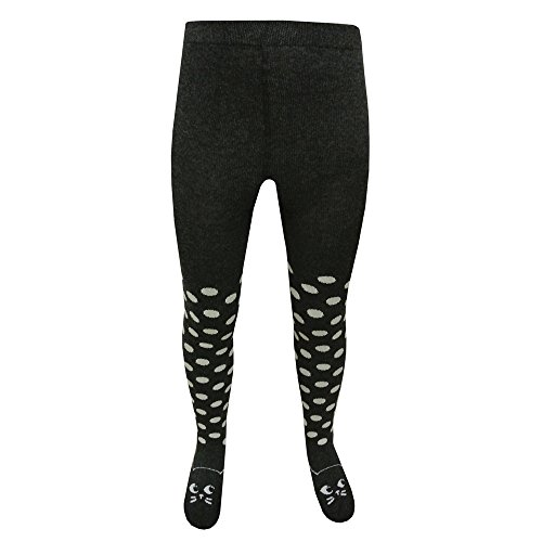 riese-strumpfe-pantyhose-girl-spotted-cat-motif-dark-gray-134-140dunkelgrau