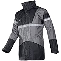 3X-Large Grey/Black SIOEN 288AA2EX10613XL Clover Field Rain Jacket With Detachable Body Warmer