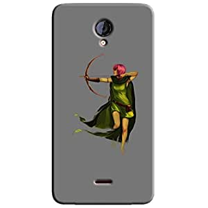 BOW & ARROW GIRL BACK COVER FOR MICROMAX UNITE 2