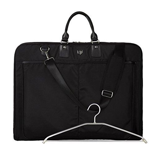 BAGSMART Kleidersack Anzugtasche Anzugsack mit Kleiderbügel Business Reisen Schwarz (Aus Ihrem Schrank Kostüm)