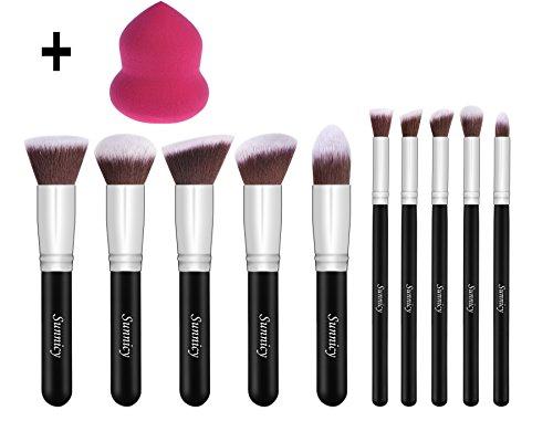 10 + 1 Maquillage Ensemble De - Ombre à Paupière Blush Fondation Pinceau Poudre Fond de teint Anti-cerne Kit Pinceaux Liquide Crème Produits cosmétiques Pinceaux & 1 Makeup Blender