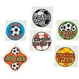 Tattoos Fußball, Soccer 36 Kindertattoos mit 6 verschiedenen Motiven Palandi®