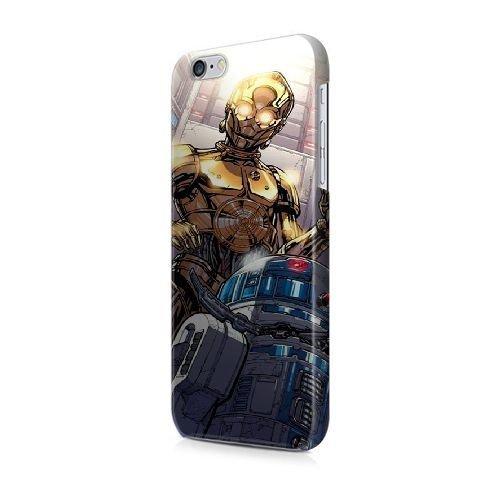 COUTUM iPhone 5/5s/SE Coque [GJJFHAGJ72564][SOUL EATER THÈME] Plastique dur Snap-On 3D Coque pour iPhone 5/5s/SE STAR WARS C3-P0 AND R2-D2 - 003