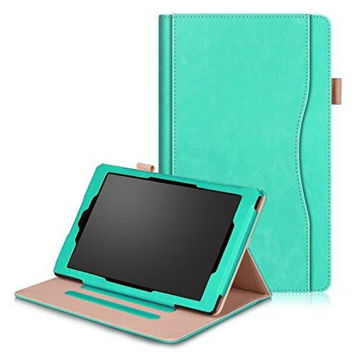 SOUNDMAE Hülle Für Fire HD 10 Tablet (7. Generation - 2017/5. Generation - 2015), Ultra Slim Schutzhülle mit Auto Schlaf/Wach und Ständer für Fire HD 10 (10-Zoll-Tablet, 7. Gen/5. Gen) – als