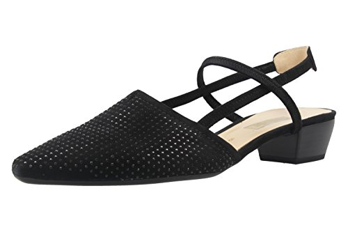GABOR - Damen Slingback Pumps - Schwarz Schuhe in Übergrößen, Größe:42