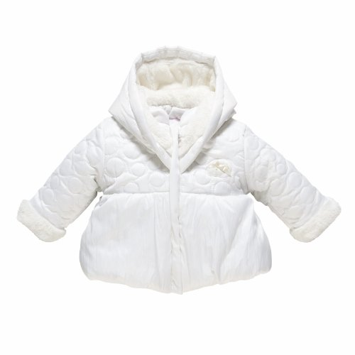 Chicco - Giacca con cappuccio, bambina, Bianco (Blanc), 15 mesi