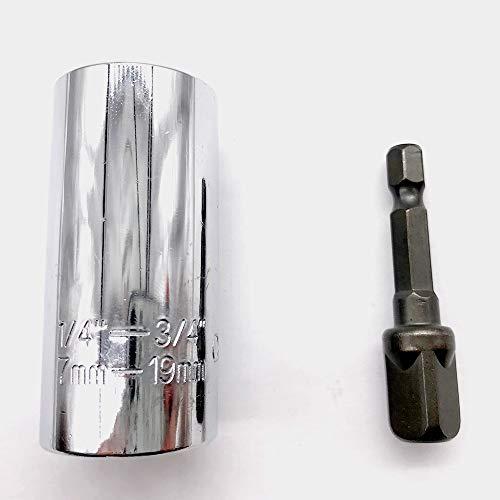 Gator Grip 7-19mm Multifunktions-Universal-Handwerkzeuge Steckschlüssel,Universalschlüssel Universalnuss Multifunktions-Handwerkzeuge Adapter Repair werkzeuge set Selbsteinstellende Kombination