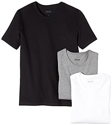 BOSS Hugo Herren T-Shirt SS RN 3P BM 10111875 02, 3er Pack, Einfarbig, Gr. Small, mehrfarbig (Assorted Pre-Pack 999)